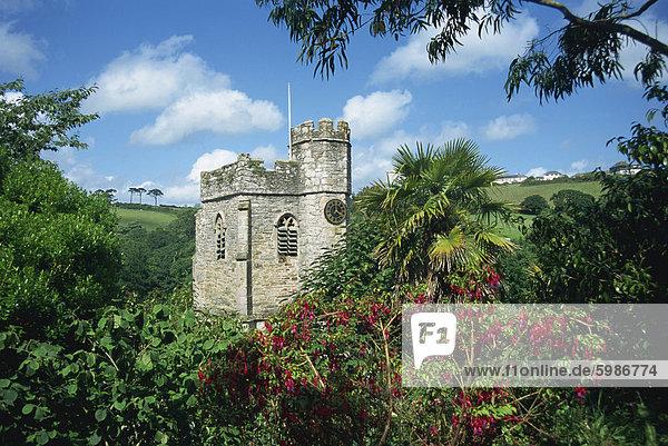 St. Just in Roseland Kirche  Cornwall  England  Vereinigtes Königreich  Europa