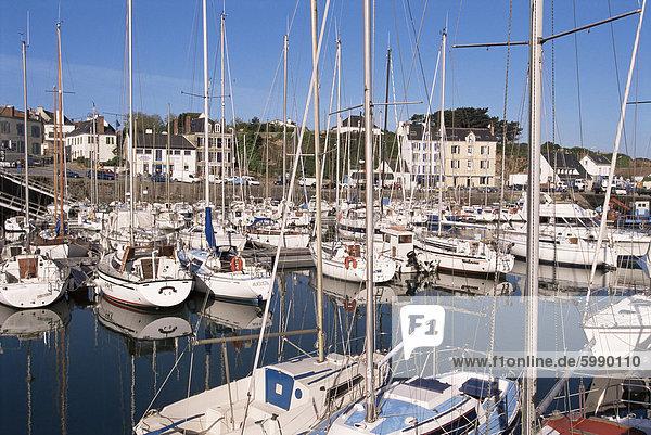 Tudy Hafen  Ile de Groix  Bretagne  Frankreich  Europa