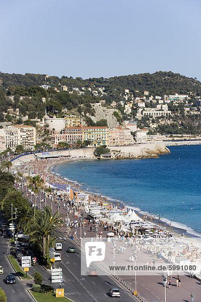 Frankreich Europa Freundlichkeit Provence - Alpes-Cote d Azur Cote d Azur Alpes maritimes Promenade des Anglais