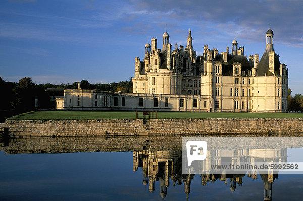 Frankreich Europa UNESCO-Welterbe Chateau Chambord Loiretal Loir-et-Cher