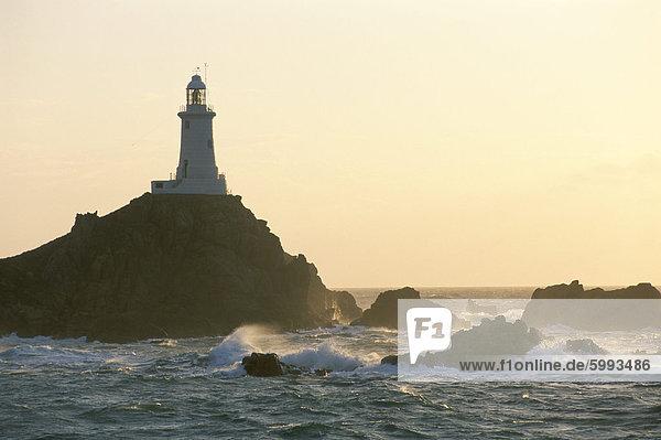 Corbiere Leuchtturm  St. Brelard-Corbiere Point  Jersey  Kanalinseln  Großbritannien  Europa