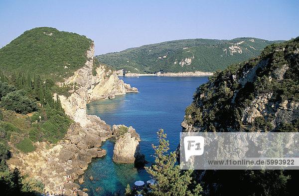Europa Korfu Griechenland Griechische Inseln Paleokastritsa