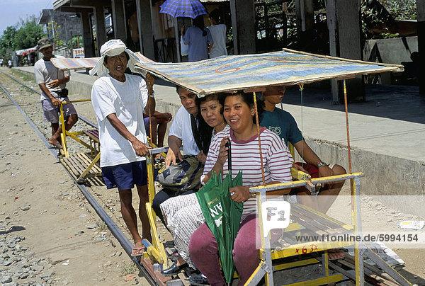 Grundlegende Eisenbahn Transport  Manila  Insel Luzon  Philippinen  Südostasien  Asien