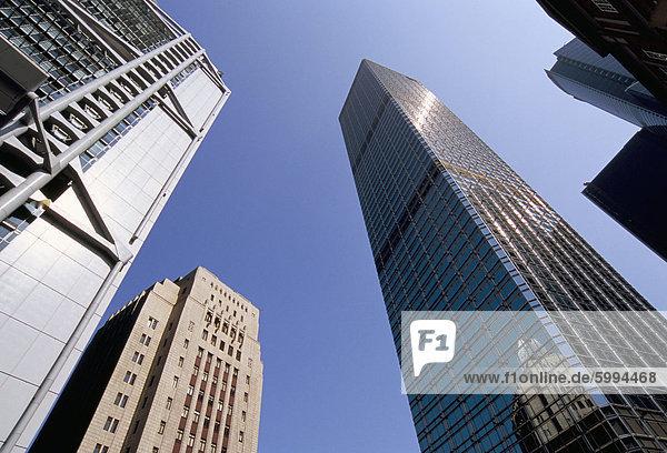 HSBC Tower auf linken und Cheung Kong Center rechts  Central  Hong Kong Island  Hongkong  China  Asien