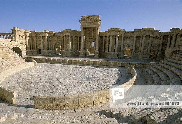 Theater  Ausgrabungsstätte  Palmyra  UNESCO Weltkulturerbe  Syrien  Naher Osten