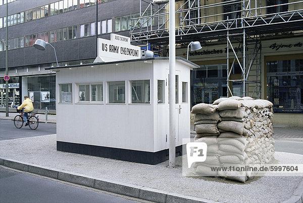 Prüfpunkt Charlie  border-Steuerelement  West Berlin  Berlin  Deutschland  Europa Prüfpunkt Charlie, border-Steuerelement, West Berlin, Berlin, Deutschland, Europa