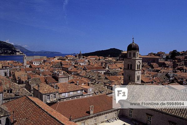 Die gotische Altstadt Dubrovnik  UNESCO Weltkulturerbe  Dalmatien  Kroatien  Europa