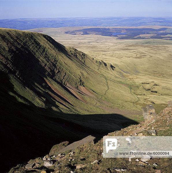 Black Mountain  Brecon Beacons  Powys  Wales  Vereinigtes Königreich  Europa