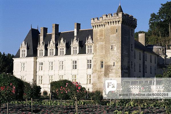 Château de Villandry  UNESCO Weltkulturerbe  Indre-et-Loire  Loire-Tal  Centre  Frankreich  Europa