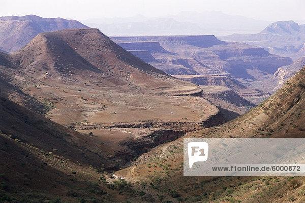 Lasta-Tal  Wollo Gebiet  Äthiopien  Afrika