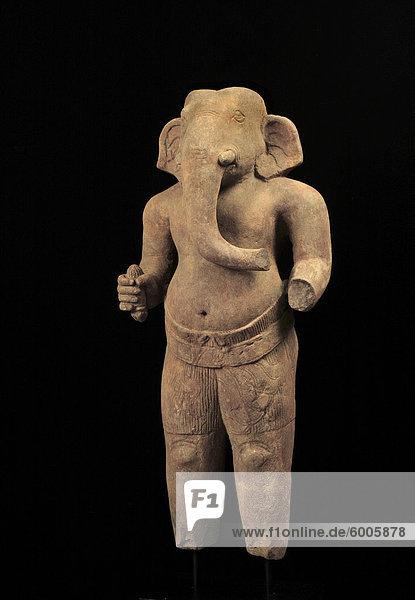 Sandstein Ganesh der Baphuon Period  Khmer Kunst in Privatbesitz  Kambodscha  Indochina  Südostasien  Asien Sandstein Ganesh der Baphuon Period, Khmer Kunst in Privatbesitz, Kambodscha, Indochina, Südostasien, Asien