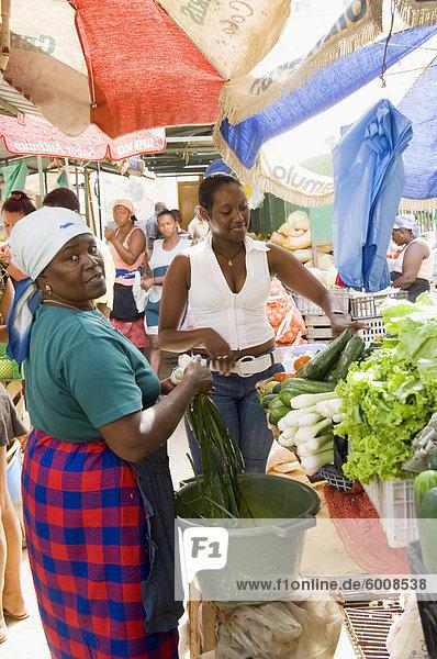Den afrikanischen Markt in der alten Stadt Praia auf dem Plateau  Praia  Santiago  Kapverdische Inseln  Afrika