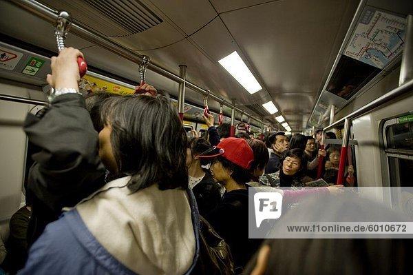Die Metro in Hongkong  China  Asien