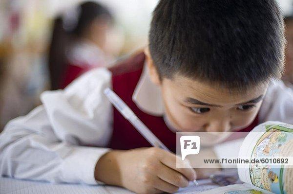 In der Schule in Ulan Bator  Mongolei  Zentralasien  Asien