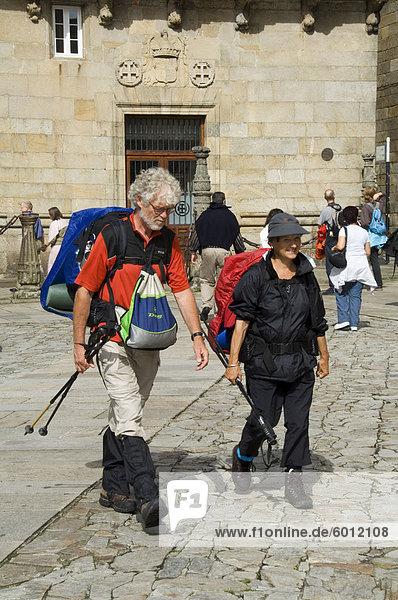 Pilger  Santiago De Compostela  Galicien  Spanien  Europa