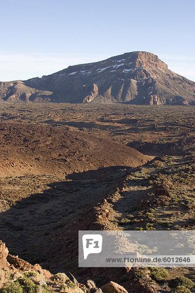 Lava flows at Llano de Ucanca  Parque Nacional de Las Canadas del Teide (Teide National Park)  Tenerife  Canary Islands  Spain  Europe