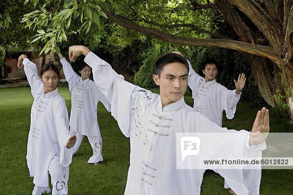 Tai Chi am See an der brillanten Resort & Spa in Kunming  Provinz Yunnan  China  Asien