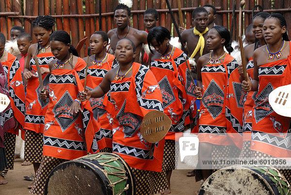 Mantegna Swazi kulturelle Dorf  Swasiland  Afrika