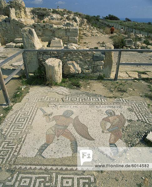 Europa Zypern Kourion Mosaik