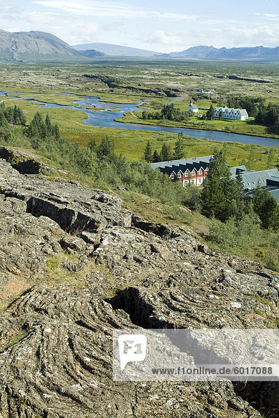 Thingvellir  Website des ursprünglichen 10. Jahrhundert isländischen (Parlament) und geografische Kluft zwischen Europa und Nordamerika  Island  Polarregionen