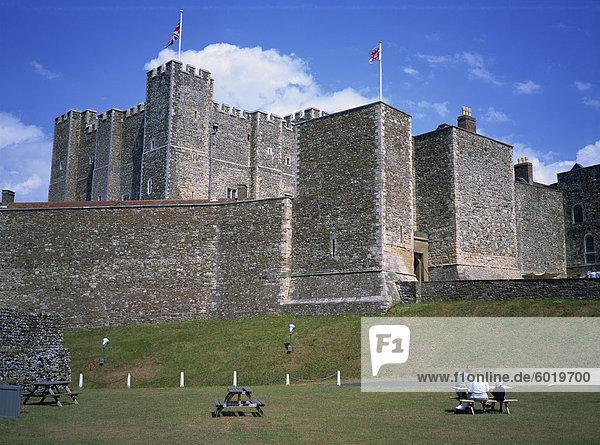 Schloss Dover Castle  Kent  England  Großbritannien  Europa