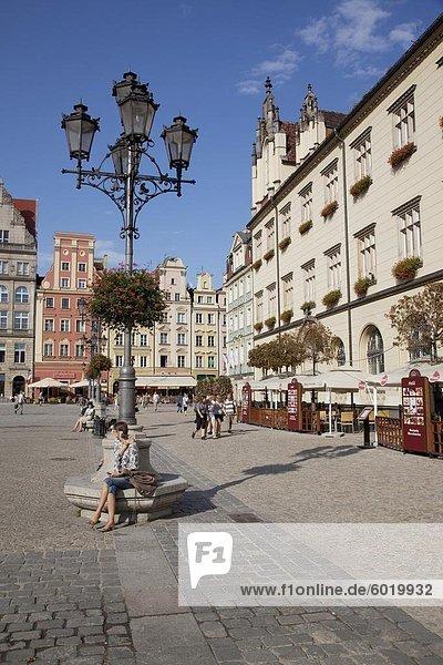 Marktplatz  Altstadt  Wroclaw  Polen  Europa