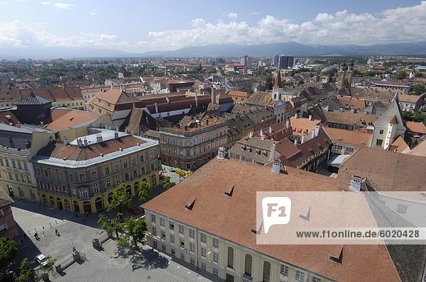 Sibiu from the Evangelical Cathedral tower  Sibiu  Transylvania  Romania  Europe