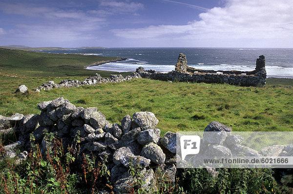 Europa Großbritannien Schottland Shetlandinseln