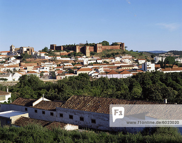 Moorish castle above Silves  Portugal  Europe