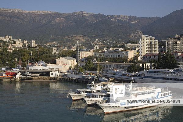 Hafen  Jalta  Krim  Ukraine  Europa