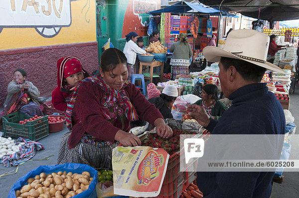 Markt  Totonicapan  Guatemala  Zentralamerika