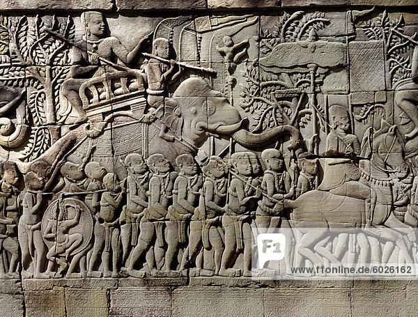 Entlastungen aus dem späten 12. und 13. Jahrhundert  Bayon  Angkor Thom  Angkor  UNESCO Weltkulturerbe  Kambodscha  Indochina  Südostasien  Asien Entlastungen aus dem späten 12. und 13. Jahrhundert, Bayon, Angkor Thom, Angkor, UNESCO Weltkulturerbe, Kambodscha, Indochina, Südostasien, Asien