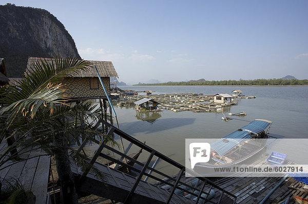 Ko Panyi  Muslim fishing village  Phang Nga  Thailand  Southeast Asia  Asia