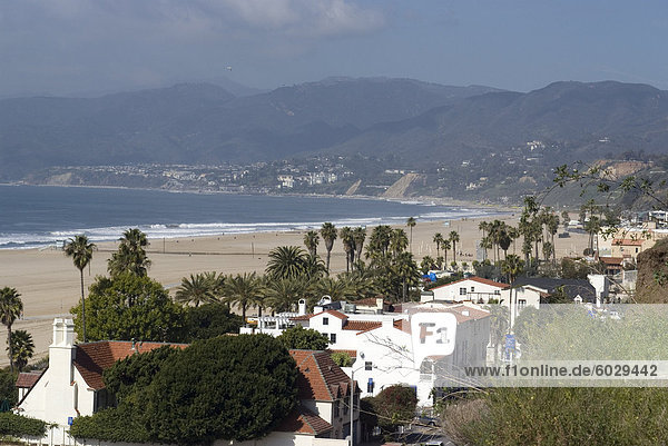 Malibu  from Palisades Park  Santa Monica  California  United States of America  North America