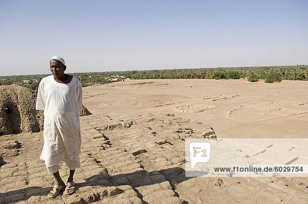 Die frühen nubische Stadt Kerma nach Ausgrabung durch das Schweizer Team von Professor Charles Bonnet der Universität Genf  Suda  Afrika