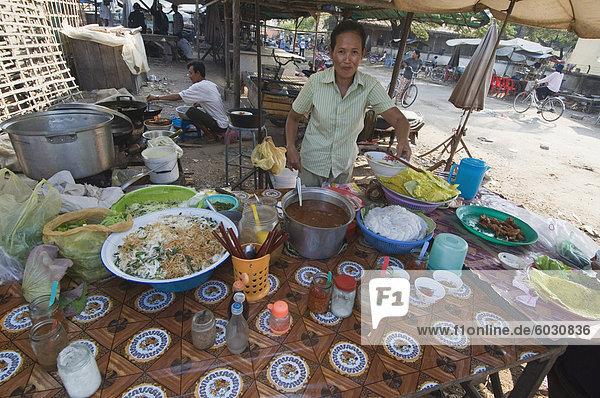 Markt in Kompong Thom  Kambodscha  Indochina  Südostasien  Asien