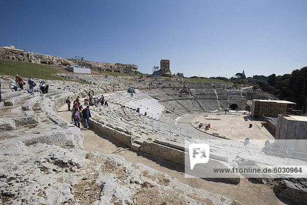 The Greek Theatre  Syracuse  Sicily  Italy  Europe