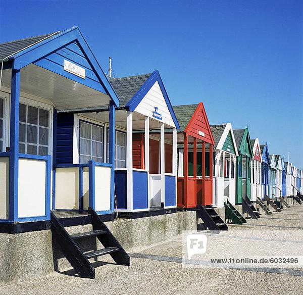 Strandhütten  Southwold  Suffolk  England  Großbritannien  Europa