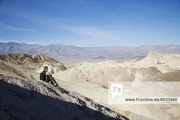 Zabriskie Point  Death Valley National Park  California  Vereinigte Staaten von Amerika  Nordamerika