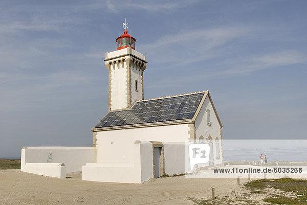 Les Poulains  Leuchtturm  Belle Ile  Bretagne  Frankreich  Europa