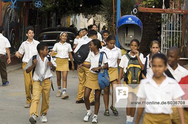 School kids  Havana  Cuba  West Indies  Central America