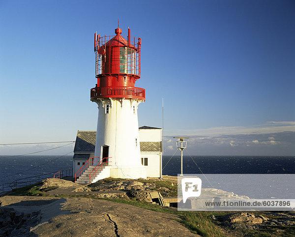 Lindesnes Fyr Leuchtturm südlichster Punkt Norwegens  Norwegen  Skandinavien  Europa.