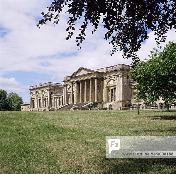 Stowe House  Stowe auf die gepflegten Gärten  Buckinghamshire  England  Vereinigtes Königreich  Europa