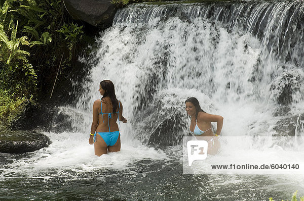 Tabacon Hot Springs  volcanic hot springs fed from the Arenal Volcano  Arenal  Costa Rica  Central America