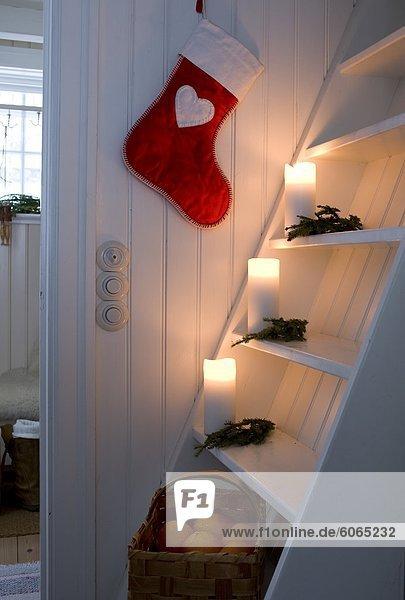 Weihnachtsschmuck in skandinavischen-Startseite