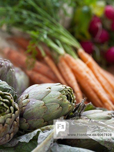 Artichokes and carrots