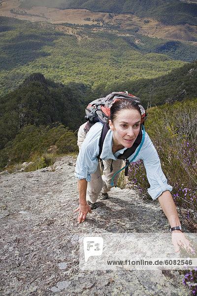 Frau  Neuengland  Berg  Berggipfel  Gipfel  Spitze  Spitzen  klettern