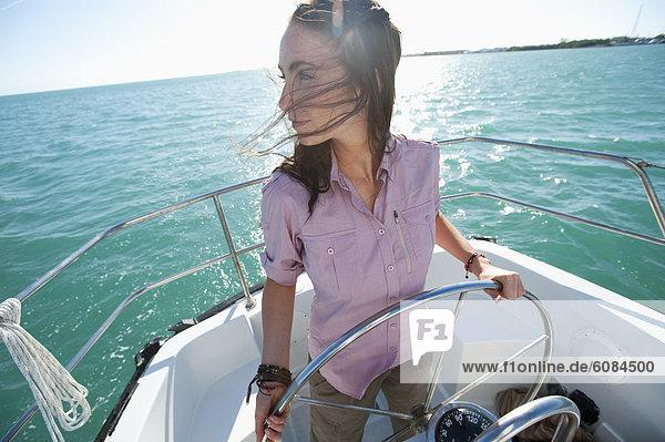 Frau  Boot  Pilot  Florida