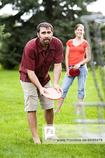 Frau  Mann  Spiel  Golfsport  Golf