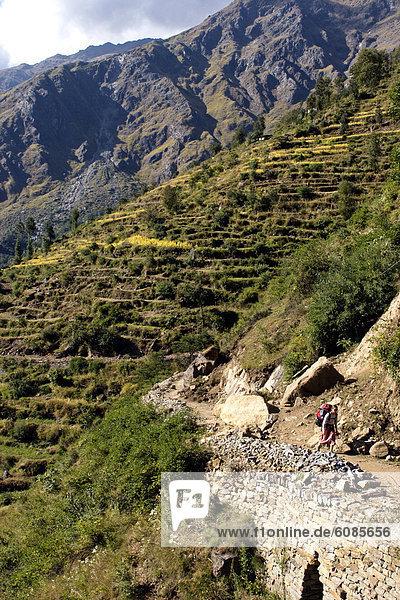 wandern  Himalaya  Grenze